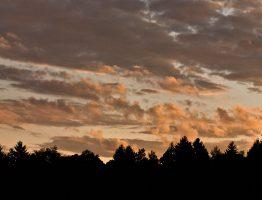 Sonnenuntergang bei Burg Rabenstein
