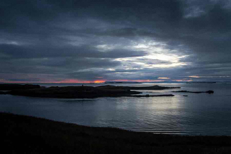 Sonnenuntergang in Stykkisholmur Island